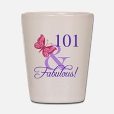 Fabulous 101st Birthday Shot Glass