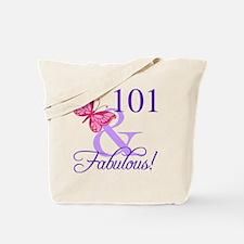 Fabulous 101st Birthday Tote Bag