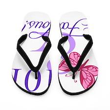 Fabulous 101st Birthday Flip Flops
