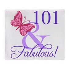 Fabulous 101st Birthday Throw Blanket