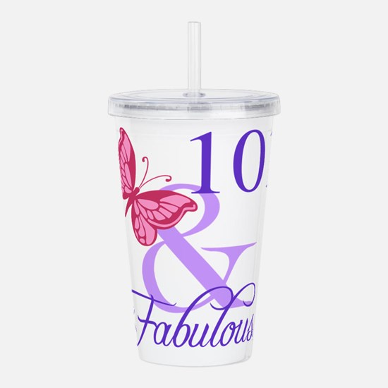 Fabulous 101st Birthda Acrylic Double-wall Tumbler