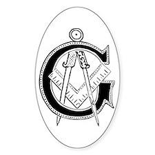Masonic Oval Decal