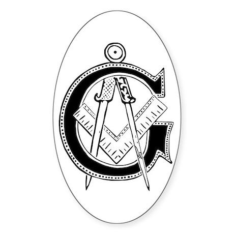 Masonic Oval Sticker