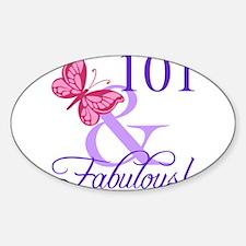 Fabulous 101st Birthday Decal