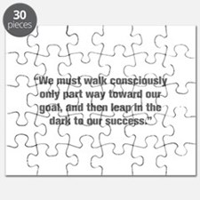 We must walk consciously only part way toward our