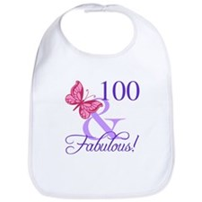 Fabulous 100th Birthday Bib