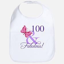 Fabulous 100th Birthday Bib