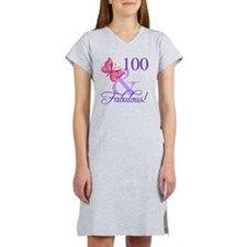 Fabulous 100th Birthday Women's Nightshirt