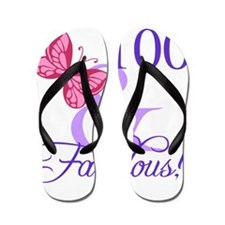 Fabulous 100th Birthday Flip Flops