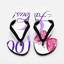 Fabulous 100th Birthday Flip Flops