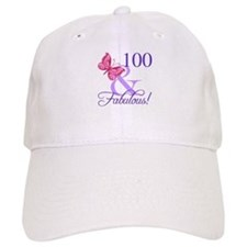 Fabulous 100th Birthday Baseball Cap