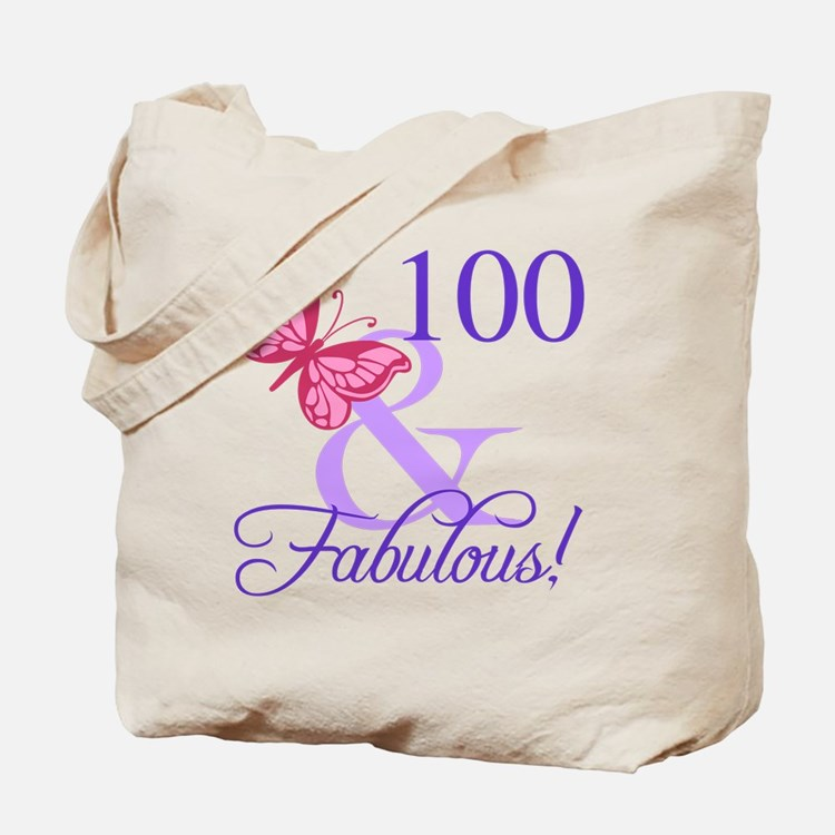 Fabulous 100th Birthday Tote Bag