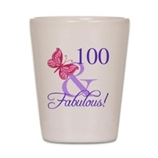 Fabulous 100th Birthday Shot Glass