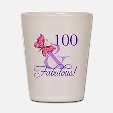 Fabulous 100th Birthday Shot Glass