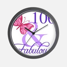 Fabulous 100th Birthday Wall Clock