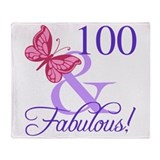 100 birthday Fleece Blankets