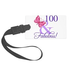 Fabulous 100th Birthday Luggage Tag