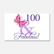 Fabulous 100th Birthday Car Magnet 20 x 12