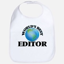World's Best Editor Bib