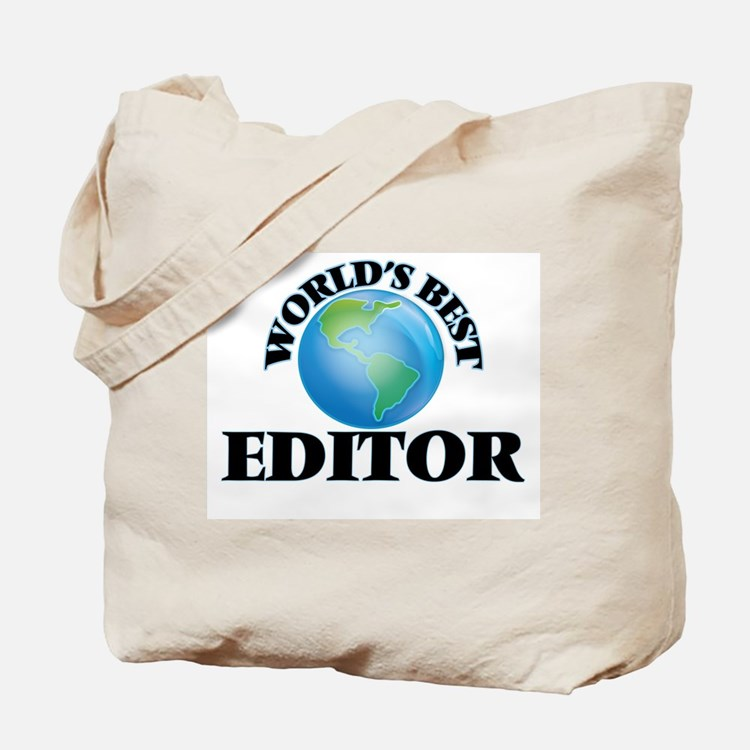 World's Best Editor Tote Bag
