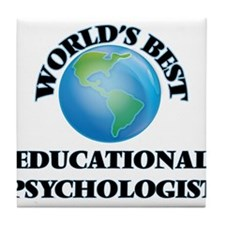 World's Best Educational Psychologist Tile Coaster