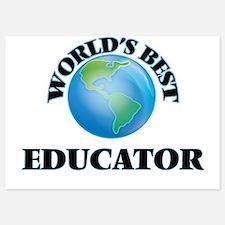 World's Best Educator Invitations