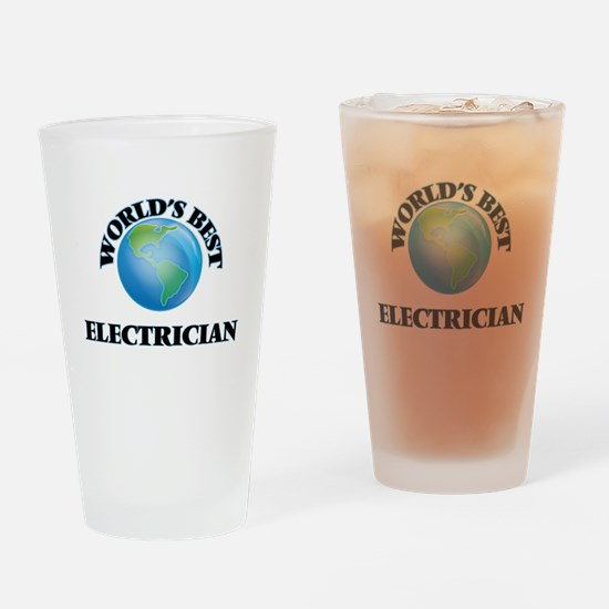 World's Best Electrician Drinking Glass