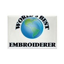 World's Best Embroiderer Magnets