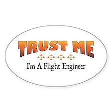 Trust Flight Engineer Oval Stickers