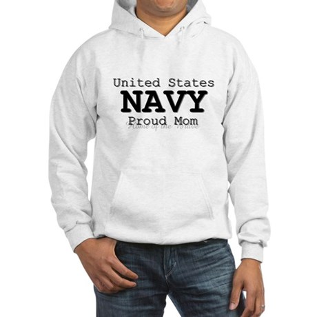 Proud Navy Mother Hooded Sweatshirt