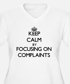 Keep Calm by focusing on Complai Plus Size T-Shirt