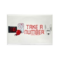 Take a Number Rectangle Magnet