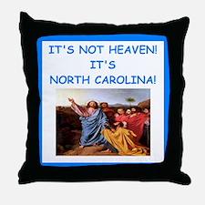 noeth carolina Throw Pillow