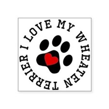 I Love My Wheaten Terrier Sticker