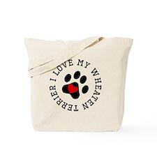 I Love My Wheaten Terrier Tote Bag