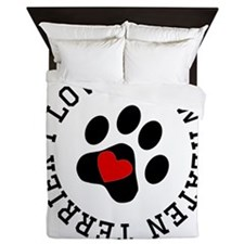 I Love My Wheaten Terrier Queen Duvet