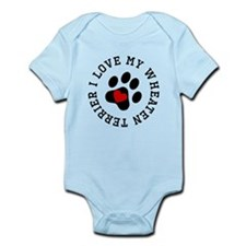 I Love My Wheaten Terrier Body Suit
