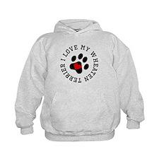 I Love My Wheaten Terrier Hoodie