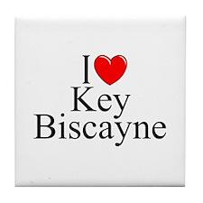 """""""I Love Key Biscayne"""" Tile Coaster"""