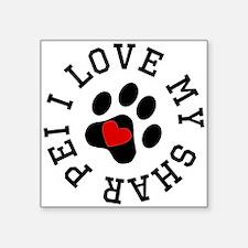I Love My Shar Pei Sticker
