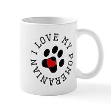 I Love My Pomeranian Mugs