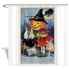 Unique Trick or treat candy Shower Curtain