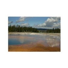 Yellowstone mineral lake #4 Rectangle Magnet (10 p