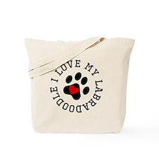 I Love My Labradoodle Tote Bag