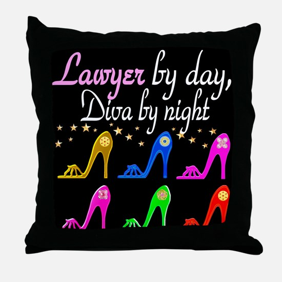 LAWYER SHOE QUEEN Throw Pillow