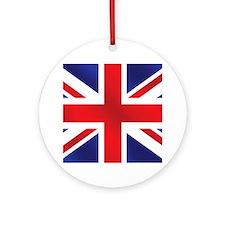 Union Jack UK Flag Ornament (Round)