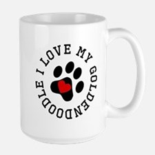 I Love My Goldendoodle Mugs