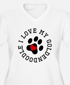 I Love My Goldendoodle Plus Size T-Shirt