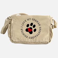 I Love My German Shorthaired Pointer Messenger Bag