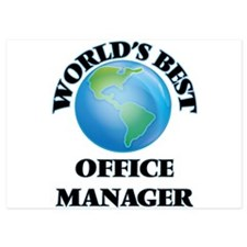 World's Best Office Manager Invitations